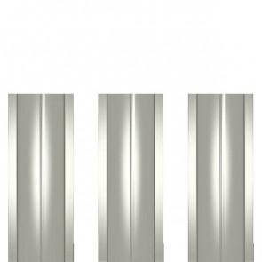 Штакетник металлический ШМ-114 (прямой) 0,45 полиэстер RAL 9002 (серо-белый)