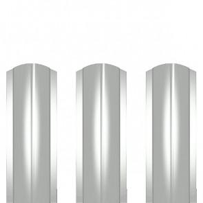 Штакетник металлический ШМ-114 (фигурный) полиэстер 0,45 RAL 9003