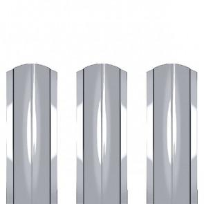 Штакетник металлический ШМ-114 (фигурный) 0,45 ZN (оцинкованная сталь)