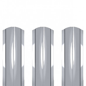 Штакетник металлический ШМ-114 (фигурный) 0,5 ZN (оцинкованная сталь)