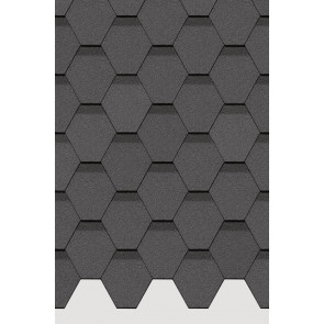 Гибкая черепица DOCKE STANDARD СОТА (318*1000), цвет серый