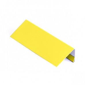 Стартовая (завершающая) планка для БЛОК ХАУСА двойного, 1,25 м, полиэстер, RAL 1018 (цинково-желтый)