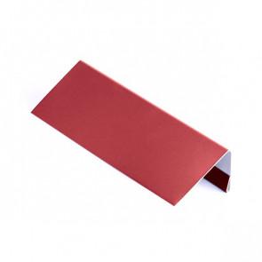 Стартовая (завершающая) планка для БЛОК ХАУСА двойного, 1,25 м, полиэстер, RAL 3003 (рубиново-красный)