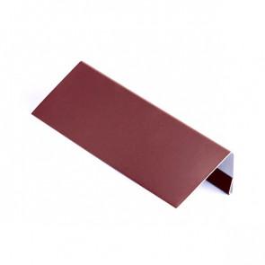 Стартовая (завершающая) планка для БЛОК ХАУСА двойного, 1,25 м, стальной бархат, RAL 3005 (винно-красный)