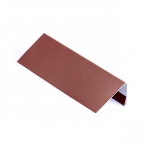 Стартовая (завершающая) планка для БЛОК ХАУСА двойного, 2 м, полиэстер, RAL 3009 (красная окись)