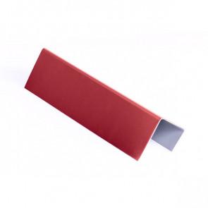 Стартовая планка для металлических фасадных панелей (40*25*20) RAL 3003 (рубиново-красный)