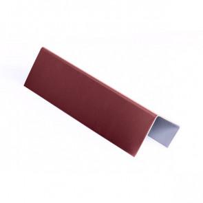 Стартовая планка для металлических фасадных панелей (40*25*20) RAL 3005 (винно-красный)