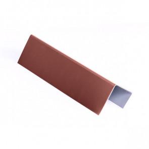 Стартовая планка для металлических фасадных панелей (40*25*20) RAL 3009 (красная окись)