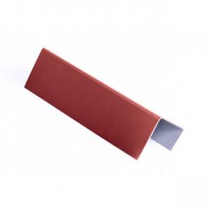 Стартовая планка для металлических фасадных панелей (40*25*20) RAL 3011 (коричнево-красный)