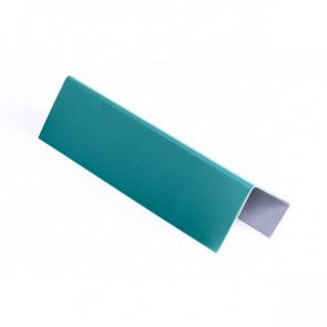 Стартовая планка для металлических фасадных панелей (40*25*20) RAL 5021 (водная синь)