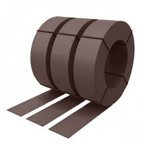 Штрипс с защитной пленкой 0,5 полиэстер RAL 8017 (шоколадно-коричневый)