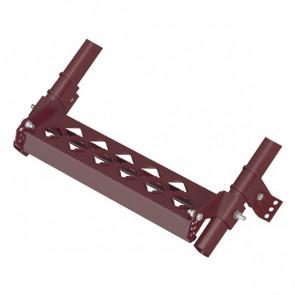 Дополнительная ступень с противоскользящим покрытием для кровельной лестницы (450*100) RAL 3005 (винно-красный)