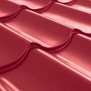 Металлочерепица СуперМонтеррей Плюс (1195/1102) 0,45 полиэстер RAL 3003 (рубиново-красный)