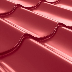 Металлочерепица СуперМонтеррей Плюс (1195/1102) 0,5 полиэстер RAL 3003 (рубиново-красный)