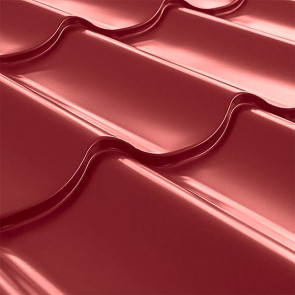 Металлочерепица СуперМонтеррей Плюс (1195/1102) 0,4 полиэстер RAL 3011 (коричнево-красный)