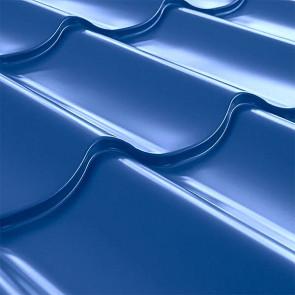 Металлочерепица СуперМонтеррей Плюс (1195/1102) 0,45 полиэстер RAL 5005 (сигнальный синий)