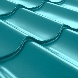 Металлочерепица СуперМонтеррей Плюс (1195/1102) 0,5 полиэстер RAL 5021 (водная синь)