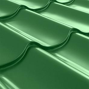 Металлочерепица СуперМонтеррей Плюс (1195/1102) 0,45 полиэстер RAL 6002 (лиственно-зеленый)