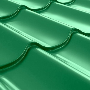 Металлочерепица СуперМонтеррей Плюс (1195/1102) 0,5 полиэстер RAL 6029 (мятно-зеленый)
