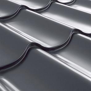 Металлочерепица СуперМонтеррей Плюс (1195/1102) 0,45 полиэстер RAL 7024 (графитовый серый)