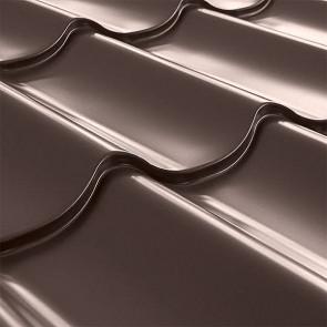 Металлочерепица СуперМонтеррей Плюс (1195/1102) 0,45 полиэстер RAL 8017 (шоколадно-коричневый)