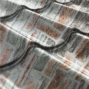Металлочерепица СуперМонтеррей Плюс (1195/1102) 0,45 Printech кварцевый сланец 3D