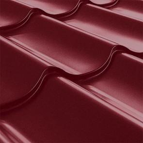 Металлочерепица СуперМонтеррей Плюс (1195/1102) стальной бархат 0,5 RAL 3005 (винно-красный)