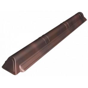Торцевой элемент конька кровли для черепицы Ондувилла (75*180*1050) цвет коричневый 3D
