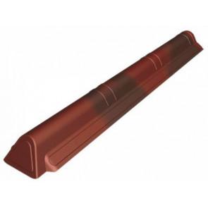 Торцевой элемент конька кровли для черепицы Ондувилла (75*180*1050) цвет красный 3D