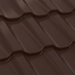 Металлочерепица Трамонтана 25-350 (1195/1155) полиэстер 0,5 RAL 8017 (шоколадно-коричневый)
