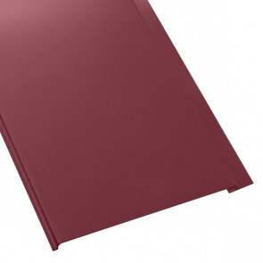 Металлосайдинг Универсальный (вертикальный) в пленке (275/245) 0,45 полиэстер RAL 3005 (винно-красный)