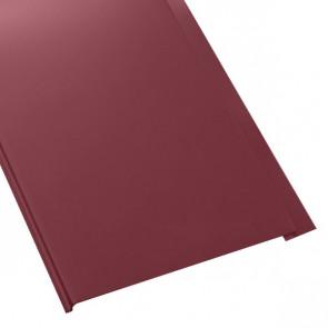 Металлосайдинг Универсальный (вертикальный) в пленке (275/245) стальной бархат 0,5 RAL 3005 (винно-красный)