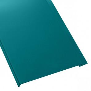 Металлосайдинг Универсальный (вертикальный) в пленке (275/245) 0,55 полиэстер RAL 5021 (водная синь)