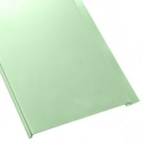 Металлосайдинг Универсальный (вертикальный) в пленке (275/245) 0,4 полиэстер RAL 6019 (бело-зеленый)