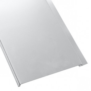 Металлосайдинг Универсальный (вертикальный) в пленке (275/245) 0,55 полиэстер RAL 7004 (сигнальный серый)