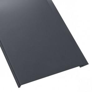Металлосайдинг Универсальный (вертикальный) в пленке (275/245) 0,45 полиэстер RAL 7024 (графитовый серый)