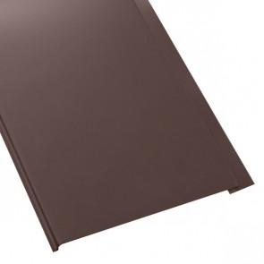 Металлосайдинг Универсальный (вертикальный) в пленке (275/245) стальной бархат 0,5 RAL 8017 (шоколадно-коричневый)