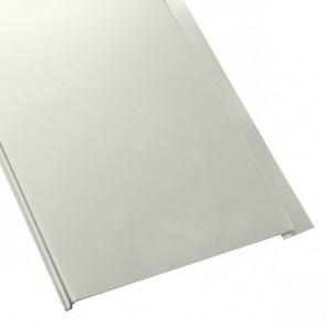 Металлосайдинг Универсальный (вертикальный) в пленке (275/245) 0,4 полиэстер RAL 9002 (серо-белый)
