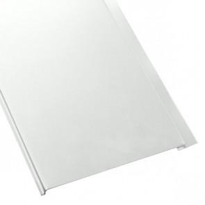 Металлосайдинг Универсальный (вертикальный) в пленке (275/245) 0,5 полиэстер RAL 9003 (сигнальный белый)