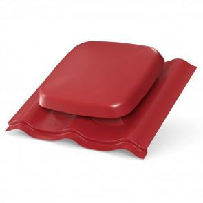 Выход вентиляции для МЧ (металлочерепицы) D=160 мм, RAL 3011 (коричнево-красный), пластик