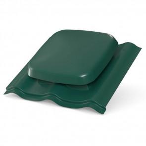 Выход вентиляции для МЧ (металлочерепицы) D=160 мм, RAL 6005 (зеленый мох), пластик