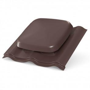 Выход вентиляции для МЧ (металлочерепицы) D=160 мм, RAL 8017 (шоколадно-коричневый), пластик