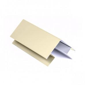 Внешний угол сложный для БЛОК ХАУСА двойного, 2 м, полиэстер,RAL 1015 (слоновая кость светлая)