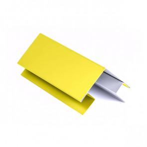 Внешний угол сложный для БЛОК ХАУСА двойного, 1,25 м, полиэстер, RAL 1018 (цинково-желтый)