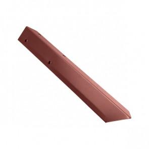 Внешний угол борта грядки металлической КРОМА (42*42*416) RAL 3009 (красная окись)