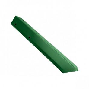 Внешний угол борта грядки металлической КРОМА (42*42*416) RAL 6002 (лиственно-зеленый)