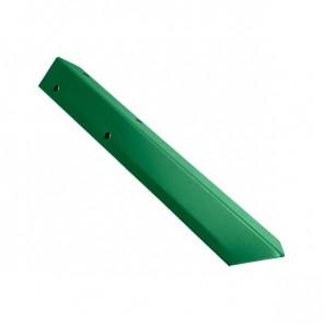 Внешний угол борта грядки металлической КРОМА (42*42*416) RAL 6029 (мятно-зеленый)