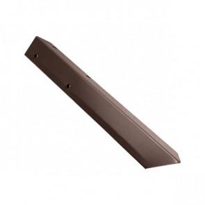 Внешний угол борта грядки металлической КРОМА (42*42*416) RAL 8017 (шоколадно-коричневый)