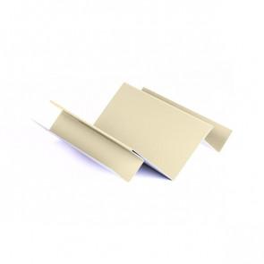 Внутренний угол сложный для БЛОК ХАУСА двойного, 1,25 м, полиэстер,RAL 1015 (слоновая кость светлая)