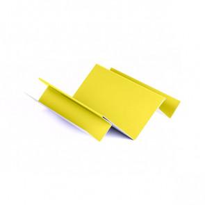 Внутренний угол сложный для БЛОК ХАУСА двойного, 1,25 м, полиэстер, RAL 1018 (цинково-желтый)